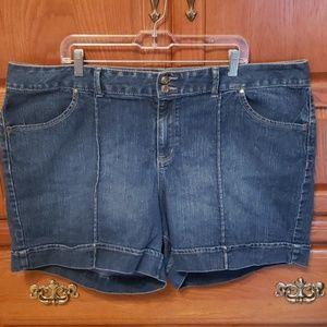 Lane Bryant Denim Shorts Size 24